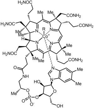 Cobalamin - Cobalamin with the upper axial ligand noted as R