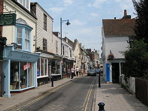 Whitstable - Image: Cobbled Street in Whitstable