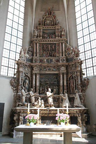 Morizkirche (Coburg) - Renaissance epitaph for Duke Johann Friedrich II