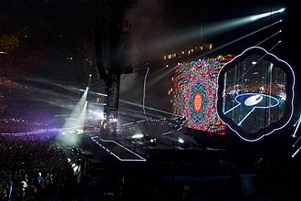 Johan Cruyff Arena - British pop rock band Coldplay performing at the stadium, as part of their A Head Full of Dreams Tour, in June 2016.