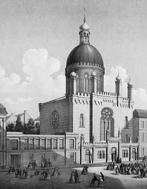 Glockengasse Synagogue - Cologne Synagogue in the Glockengasse during the 1860s