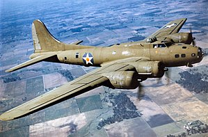 Kenneth Walker - Image: Color Photographed B 17E in Flight