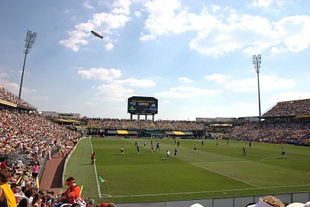 Mapfre Stadium, the first soccer-specific stadium in the U.S., and home to Columbus Crew SC. Columbus crew stadium mls allstars 2005.jpg