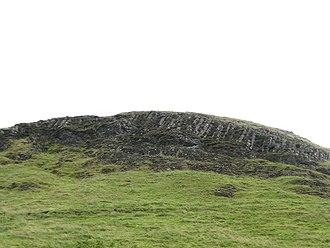 Dumgoyne - Columnar basalt visible of the west face of Dumgoyne