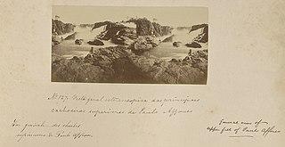 Vista genal estereoscopica das principaes cachoeiras superiores de Paulo Affonso