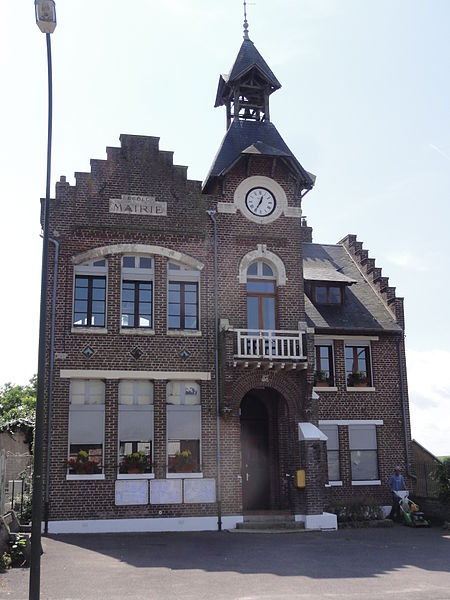 Commenchon (Aisne) mairie-école
