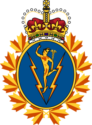 Communications and Electronics Branch - The cap badge of the Communications and Electronics Branch.
