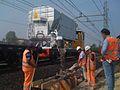 Concrete mixer on rail.JPG