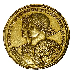 Constantine. Gold multiple minted in Ticinum, ...