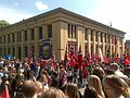 Constitution Day parade passing by the Domus Bibliotheca, University of Oslo - 20090517-01.jpg