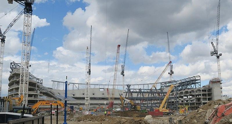 File:Construction of new stadium at White Hart Lane August 2017.jpg