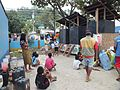 Continuous use of the portable toilets in an evacuation center, Cagayan de Oro City (6730075637).jpg