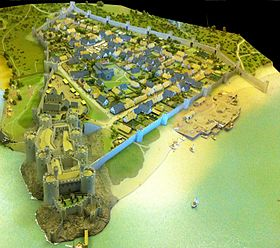 Conwy town and castle reconstruction.jpg