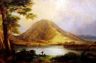 """Coolangatta Estate - """"Coolangatta Mountain"""" 1860 by Conrad Martens which shows the estate on the right."""