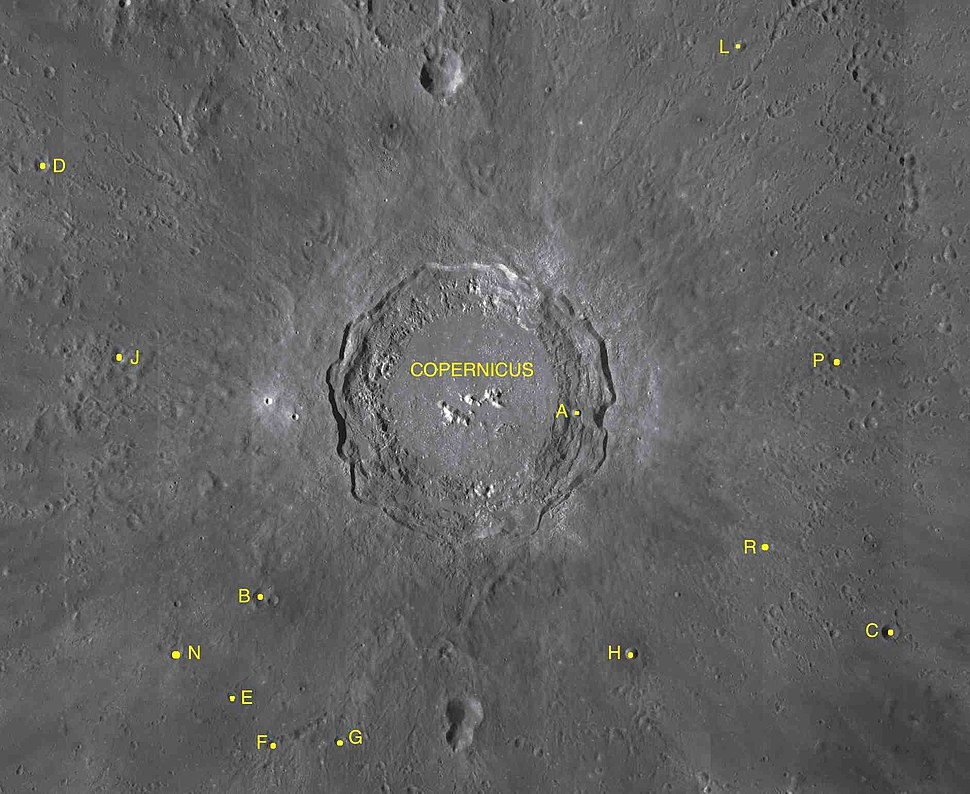 Copernicus sattelite craters map
