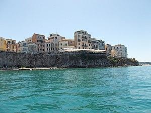 Corfu city by the sea