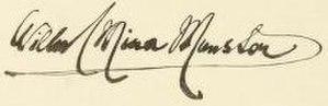 Wilhelmina FitzClarence, Countess of Munster - Image: Countess Munster signature