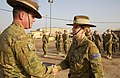 Cpl Beth Daley is presented with an Operational Service Medal at Camp Taji in Nov 2017.jpg
