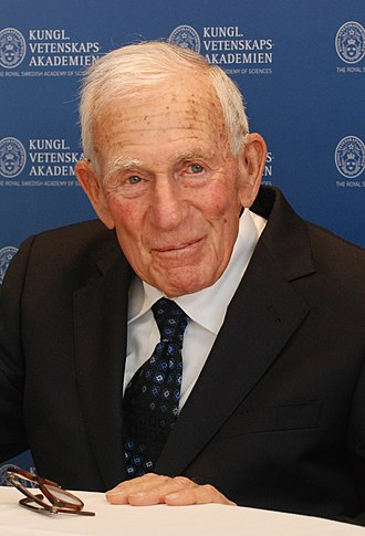 Walter Munk - Munk in Stockholm in 2010 to accept his Crafoord Prize.