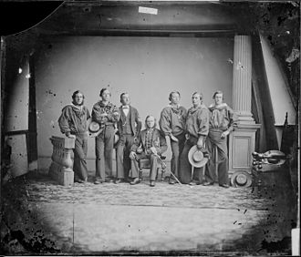 HMS Nile (1839) - Crew of the Nile c. 1861-1865.