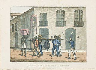 Criminals carrying provisions to the prision