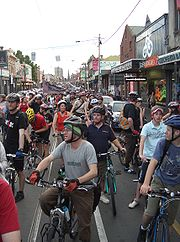 Over a thousand riders took part in the 10th anniversary ride in Melbourne during November 2005.