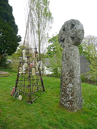 Cardinham - One of the crosses in the churchyard
