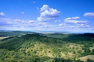 Nógrád County - Image: Cserhát Mountains, north of Hollókő