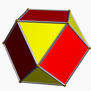Rectification (geometry) - A rectified cube is a cuboctahedron – edges reduced to vertices, and vertices expanded into new faces