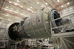 Cygnus CRS Orb-3 - Cygnus Orb-3 spacecraft integrated with Antares rocket