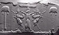 Cylinder Seal, Achaemenid, modern impression 05