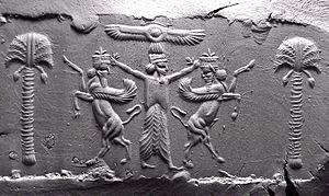 Palm branch - Palms on an Achaemenid seal impression, 5th century BC. The iconography of palm was commonly used by ancient Babylonians.