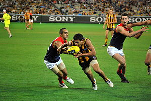 Cyril Rioli - Rioli plays at the Melbourne Cricket Ground against Melbourne