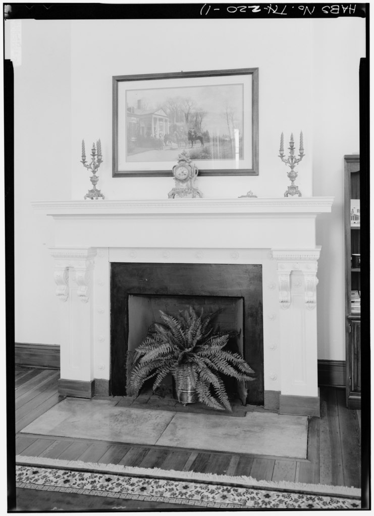 file detail of fireplace southwest front parlor east