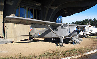 """122nd Hydroplane Liaison Squadron - deHavilland Canada DHC-2 """"Beaver"""" Mk.I of Yugoslav Air Force which served in 122nd Hydroplane Liaison Squadron from 1954 to 1968, now at Belgrade Aviation Museum."""
