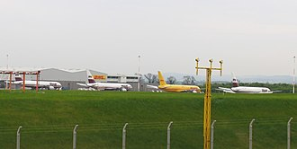 East Midlands - Air cargo aircraft at EMA