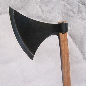 Dane axe - Replica Danish axe head, Petersen Type L or Type M, based on original from Tower of London