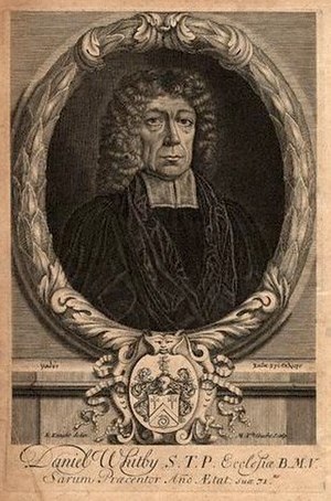 Daniel Whitby - Engraving of Daniel Whitby c.1708 by Michael Vandergucht, after E. Knight.