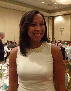 Hartford Hawks women's basketball - Danielle Hood, basketball player for the University of Hartford women's basketball team. Taken at fundraiser, where she was the featured speaker.