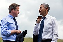 Cameron e Barack Obama nel 2013