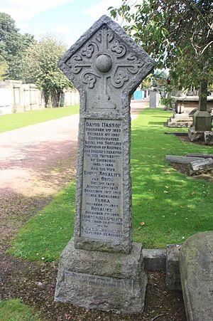 David Masson - David Masson's grave, Grange Cemetery
