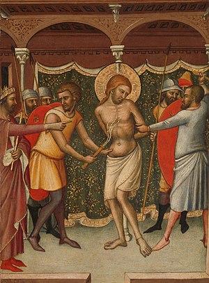 Luca di Tommè - Image: De geseling van Christus Rijksmuseum SK A 4003
