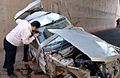 Deadly Road 44 of Iran Traffic collision - Nishapur road to Mashhad - Peugeot 405 with 5 seater - Four of them died at once- Nomvember 20,2013 07.JPG