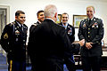 Defense.gov News Photo 101117-D-7203C-002 - Secretary of Defense Robert M. Gates shares a laugh with Medal of Honor recipient Army Staff Sgt. Salvatore Giunta 2nd from right and members of.jpg