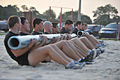 Defense.gov News Photo 110810-F-VJ113-070 - U.S. Air Force Tactical Air Control Party candidates from Falcon Flight 87 perform team sit-ups during a physical training session at Hurlburt.jpg