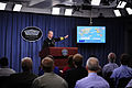 Defense.gov News Photo 120627-N-WL435-033 - Chief of Naval Operations Adm. Jonathan Greenert gestures toward a slide showing numbers and locations of ships as he talks to the media about the.jpg
