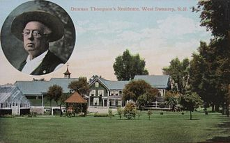 Swanzey, New Hampshire - Image: Denman Thompson's Residence, West Swanzey, NH