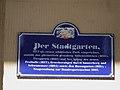 Der Stadtgarten Hinweisschild 2011.JPG