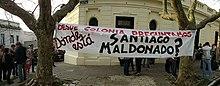 Manifestantes enUruguaypreguntan por el paradero de Santiago Maldonado