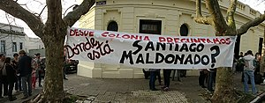 Santiago Maldonado case - Demonstrators in Uruguay ask for the whereabouts of Santiago Maldonado
